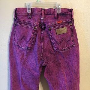 Vintage 80s Wrangler acid wash jeans